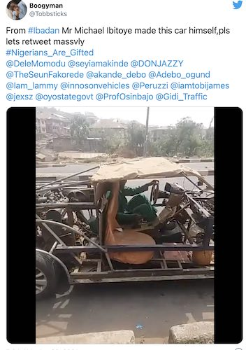 Nigerian Man Builds Car Completely Out Of Scrap Metal – IOTW Report