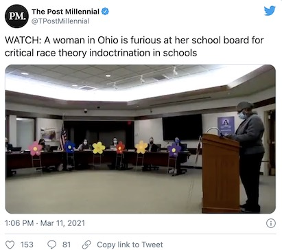 Black woman slams Ohio school board for critical race theory indoctrination of students – IOTW Report