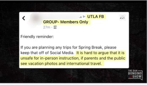 Los Angeles Teachers Union posts message to members on Facebook – IOTW Report
