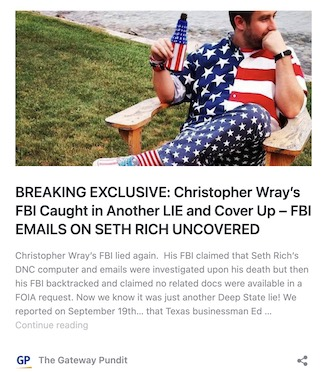 FBI Finally Releases Records on Murdered DNC Analyst Seth Rich – Via Attorney – IOTW Report