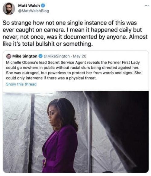 Everywhere First Lady Michelle Obama went in public she was subjected to racial slurs – IOTW Report