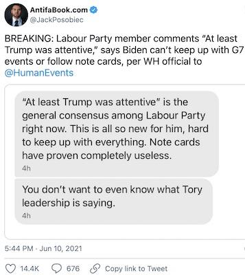 Slow Joe Not Keeping Up With Peers At G7 – IOTW Report