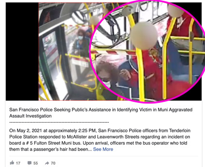 San Francisco Police Department Seeks Help To Solve Crime But Blurs Face Of Suspect – IOTW Report
