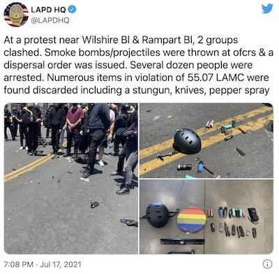 LAPD Stops Going Soft on Antifa – IOTW Report