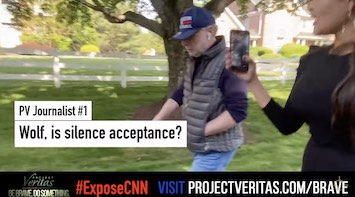 Wolf Blitzer Avoids Answering Questions– Snaps On Project Veritas Journalist